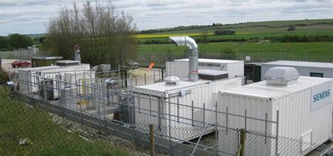 The test site at RAL for the Green Energy Storage Demonstrator.  (Credit: STFC)